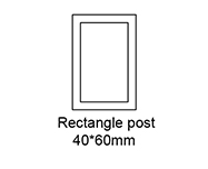 B: Rectangle post