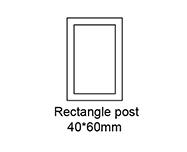 B Rectangle Post