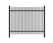 B: rod top steel fence