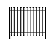 C: spear top steel fence