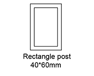 A: Rectangle post